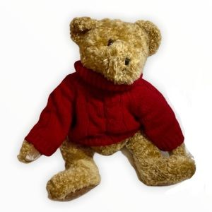 New classic teddy bear red cable knit sweater
